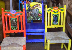 Casa Mexicanau0027s chairs are hand made from solid Mexican pine. The figures are carved on both the front and the back of the chairs hand painted and finally ... & Welcome to Casa Mexicana